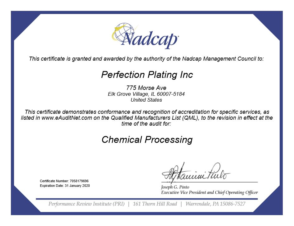 World Class Quality | Perfection Plating Inc